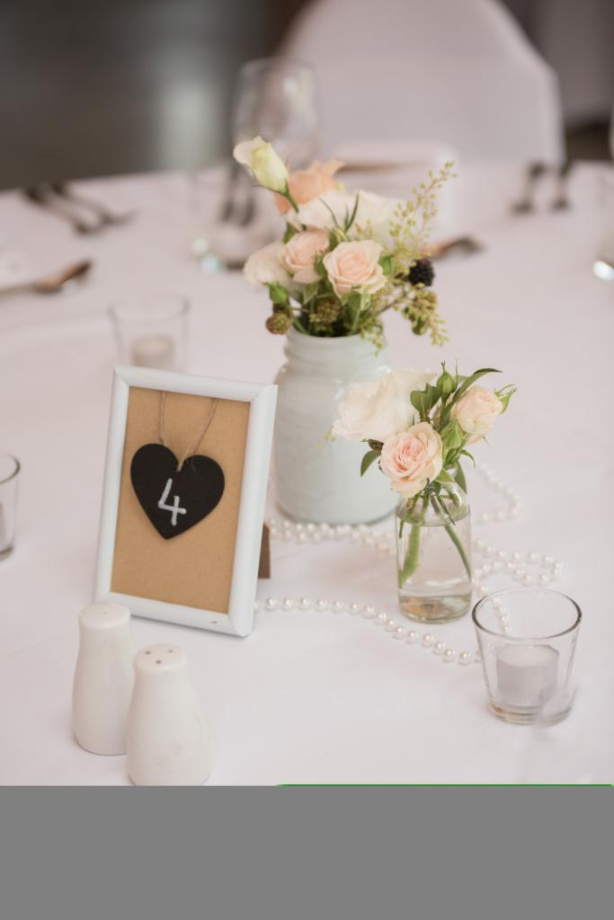 Pastel table flowers
