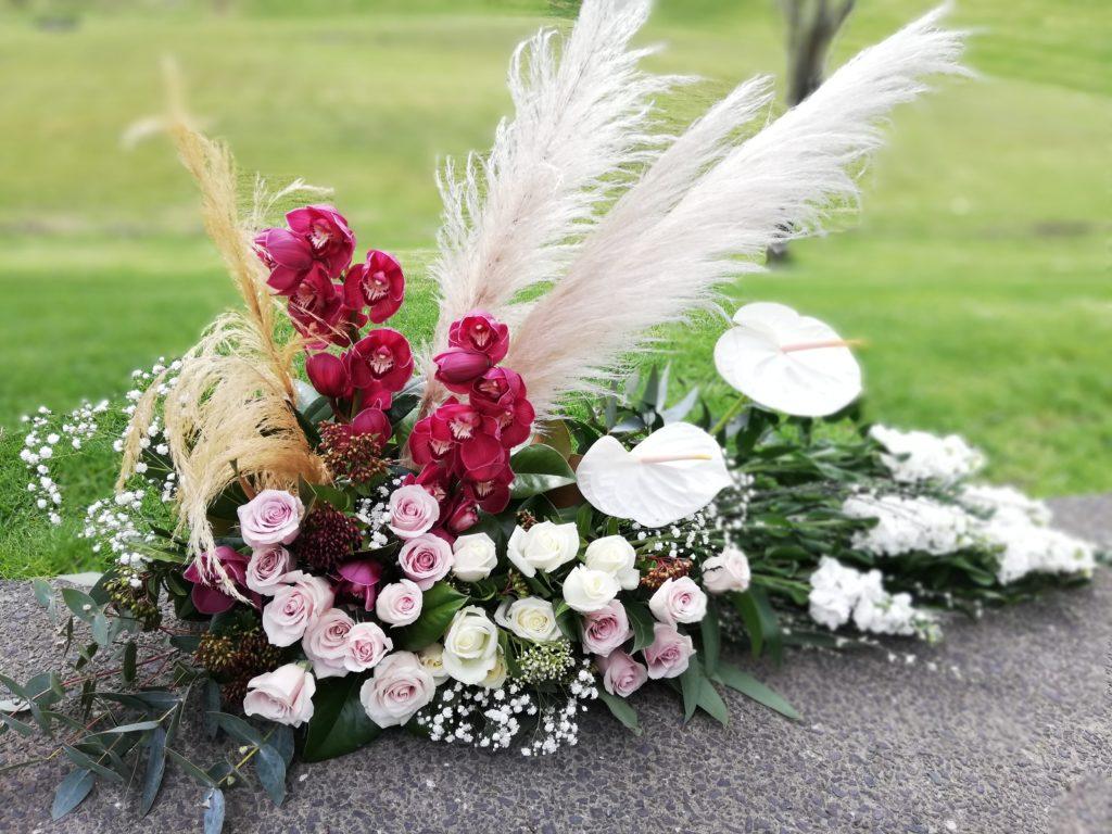 boho mantle arrangement
