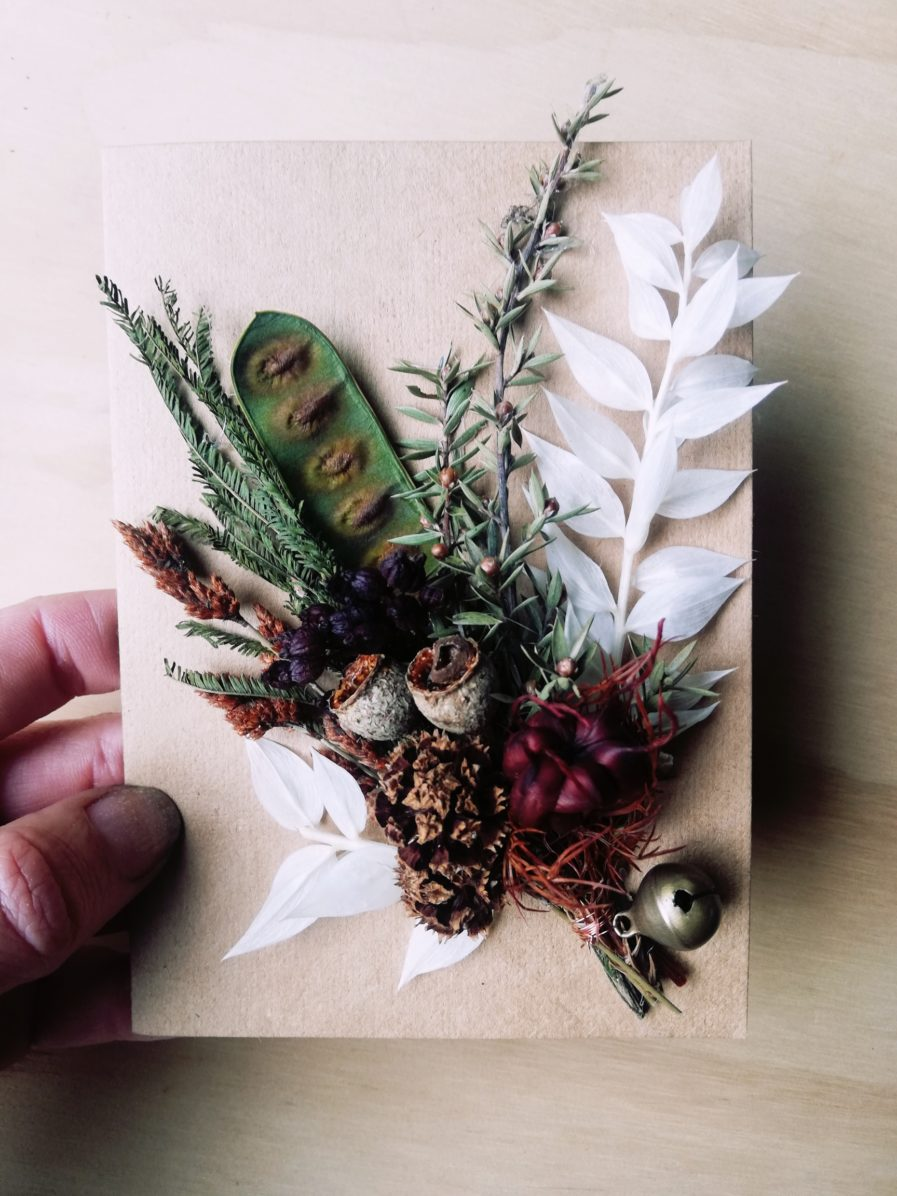 Dried flower card